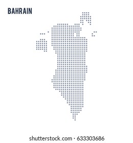 Vector pixel map of Bahrain isolated on white background . Travel vector illustration