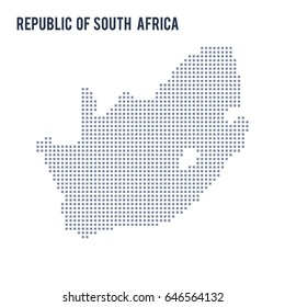 Vector pixel map of Republic of South Africa isolated on white background . Travel vector illustration