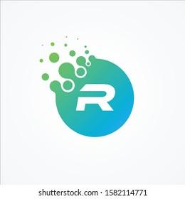 Vector pixel symbol letter R design minimalist. R letter for your best business symbol. Vector illustration EPS.8 EPS.10