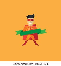 Vector Pizza Man logo