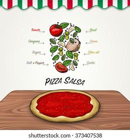 Vector Pizza Sauce
