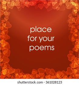 Vector place for you poems
