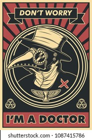 Vector Plague Doctor Poster Design