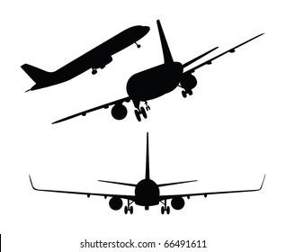 Vector plane silhouettes