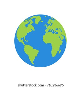 Vector planet earth icon.