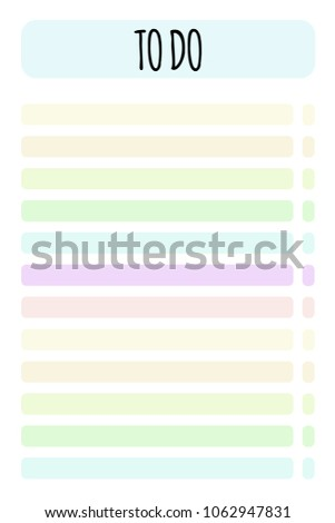 vector planner do list organizer schedule stock vector royalty free
