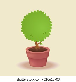 Vector plant in a pot