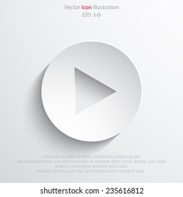 Vector play button background. Eps 10 illustration.
