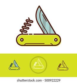 Vector pocket knife icon