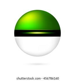Vector pokeball icon for play in game
