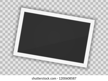 Vector Polaroid paper frame isolated on transparent background