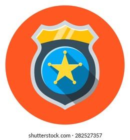 Vector police badge icon