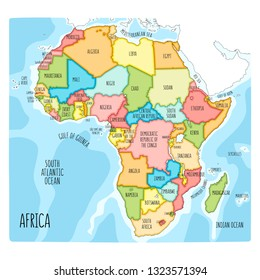 Political Map Of Africa Images Stock Photos Vectors Shutterstock