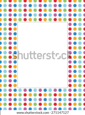 vector polka dot invitation template frame stock vector royalty