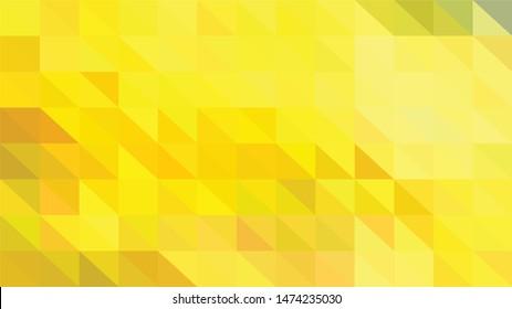 Vector Polygon Background - bright yellow gradient