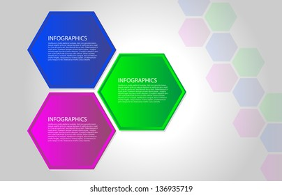 Vector polygon infographic. Layout for webpage or webdesign.