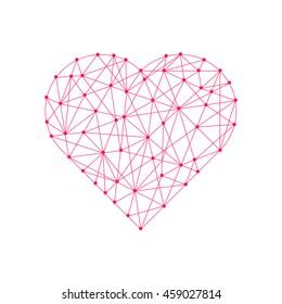 Vector polygonal heart