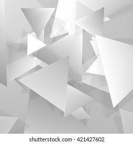 Vector Polygonal Material Design. Used opacity layers