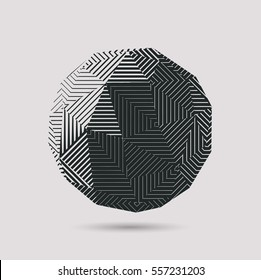 Vector polygonal shape made by repeating geometric tiles with diagonal strait lines.