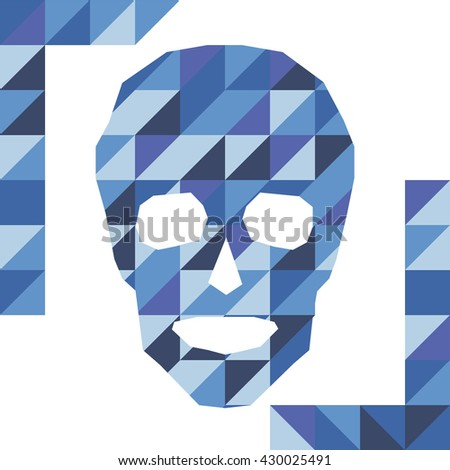 Vector Polygonal Skull Logo Symbol Icon Stock Vector (Royalty Free