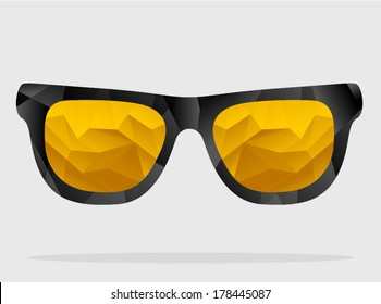 vector polygonal sunglasses 1 - Separate layers for easy editing
