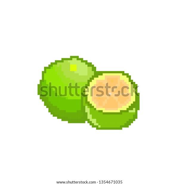 Vector Pomelo Concept Pixel Art Stock Vector Royalty Free