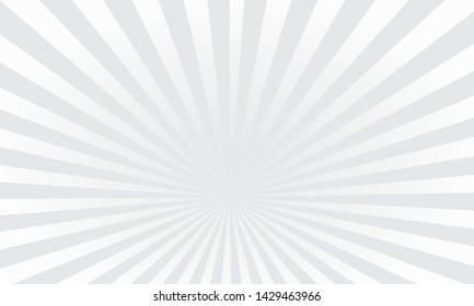 Vector pop art colorful rays background. Grey rays on a white background