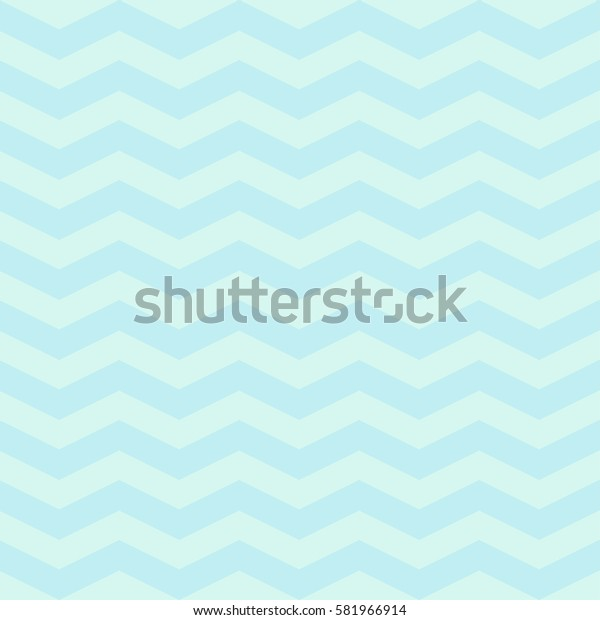 Vector popular zigzag chevron  pattern. Vector background in pastel mint blue colors for baby textile, wallpapers
