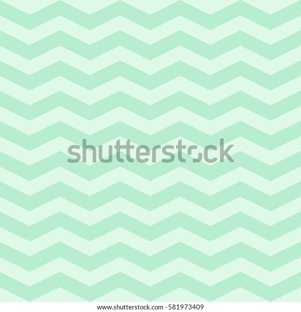 Vector popular zigzag chevron pattern. Background in pastel mint colors for baby textile, wallpapers