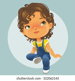 Little Girl Curly Hair Images, Stock Photos & Vectors ...