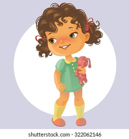 Little Girl Curly Hair Images Stock Photos Vectors Shutterstock