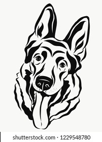 Vector portrait of funny dog