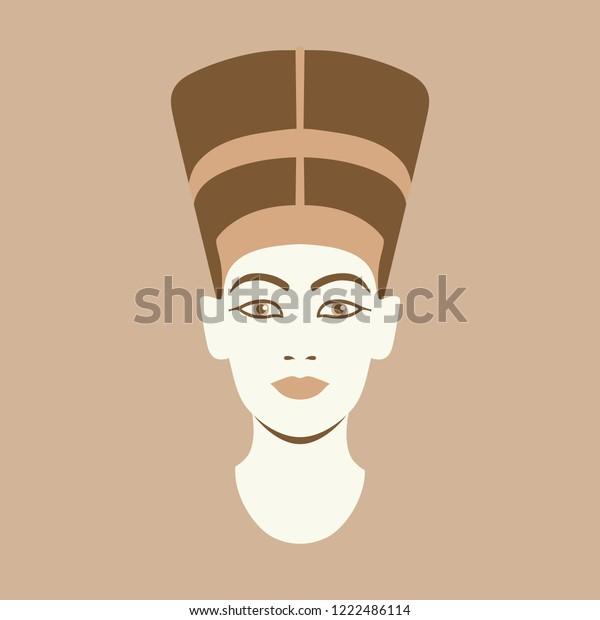Vector Portrait Illustration Ancient Egyptian Queen Stock Vector