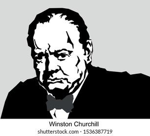 Vector Portrait of  winston churchill