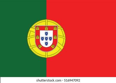 Vector Portugal flag, Portugal flag illustration, Portugal flag picture, Portugal flag image