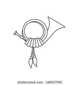 Vector Post Horn Icon Symbol