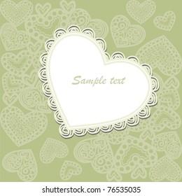 vector postcard consist of ornate patterns. Vector illustration