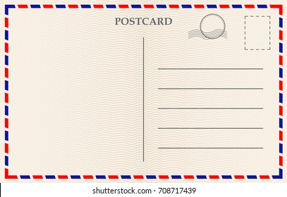 Vector postcard with paper texture