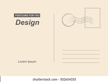 Postcard back images stock photos vectors shutterstock for Backside of postcard template