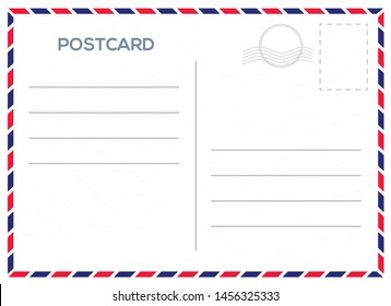 Vector postcard with whie paper texture