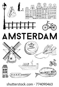 Vector poster Amsterdam