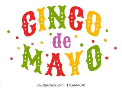 Vector poster for Cinco de mayo holiday. Vector typography for Cinco de mayo festival.