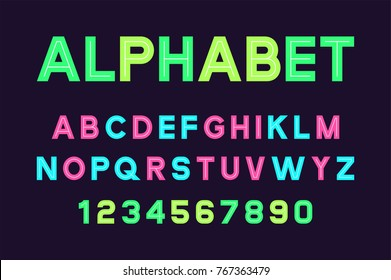 Vector of poster font and alphabet