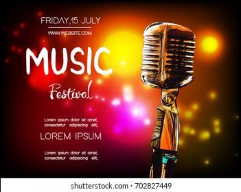 Vector poster for music festival.