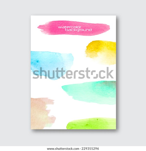 Vector Poster Template Hand Drawn Watercolor Stock Vector