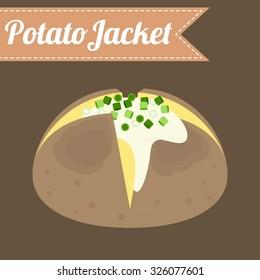 Vector potato jacket, flat design