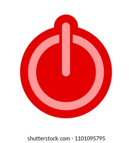 vector power button, start technology symbol - switch off sign