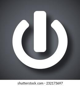 Vector power icon