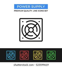 Vector power supply icon. Premium quality graphic design. Modern signs, outline symbols collection, simple thin line icons set for websites, web design, mobile app, infographics