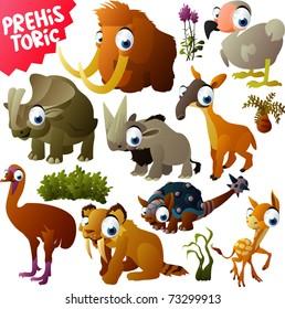 vector prehistoric animals